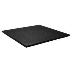 Sportvloer tegel 100x100cm 15mm - Extra fijne korrel - Zwart