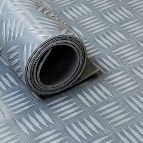 Rubber loper / rubbermat op rol Traanplaat 3mm grijs - Breedte 140 cm - Geurloos
