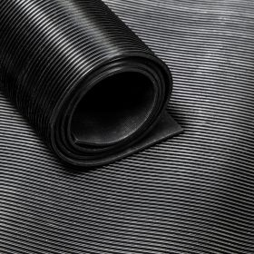 Rubber loper / rubbermat op rol ribbel 3mm - Breedte 180 cm