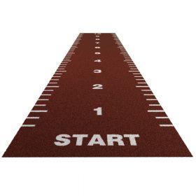 Sprinttrack Essential (kunstgras) - 10 x 2 m - Brick rood