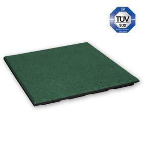 Rubber tegel 30 mm - 50 x 50 cm - Groen