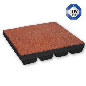 rubber tegel rood 45 mm