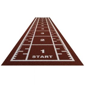 Sprinttrack Premium (kunstgras) - 10 x 2 m - Brick rood