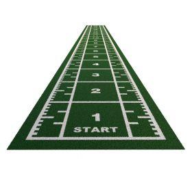 Sprinttrack Premium (kunstgras) - 20 x 2 m - Groen