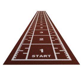Sprinttrack Premium (kunstgras) - 20 x 2 m - Brick rood
