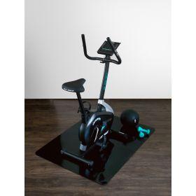 onderlegmat voor fitnessapparatuur zwart 120x150 cm