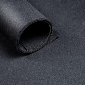 Sportvloer - Per strekkende meter - Breedte 1,25 m - Dikte 6 mm - Zwart