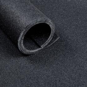 Sportvloer rol van 10 m2 - Dikte 10 mm - Asfaltlook zwart *OUTLET*