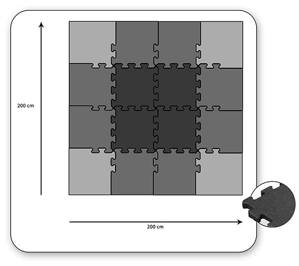 puzzel tegel systeem